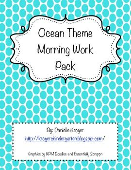 Ocean Morning Work FREEBIE