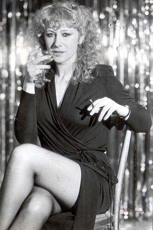 Helen Mirren working a perm on stage in 1979