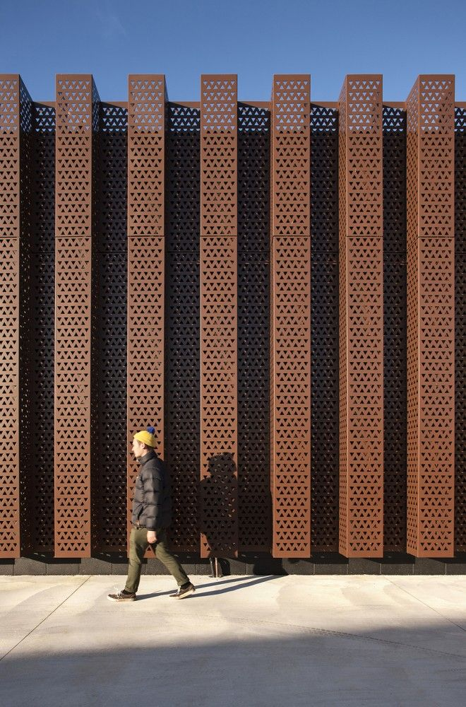 Custom Copper Perforated Metal Sheets/panels. The Treasury Research Centre  U0026 Archive / Architectus