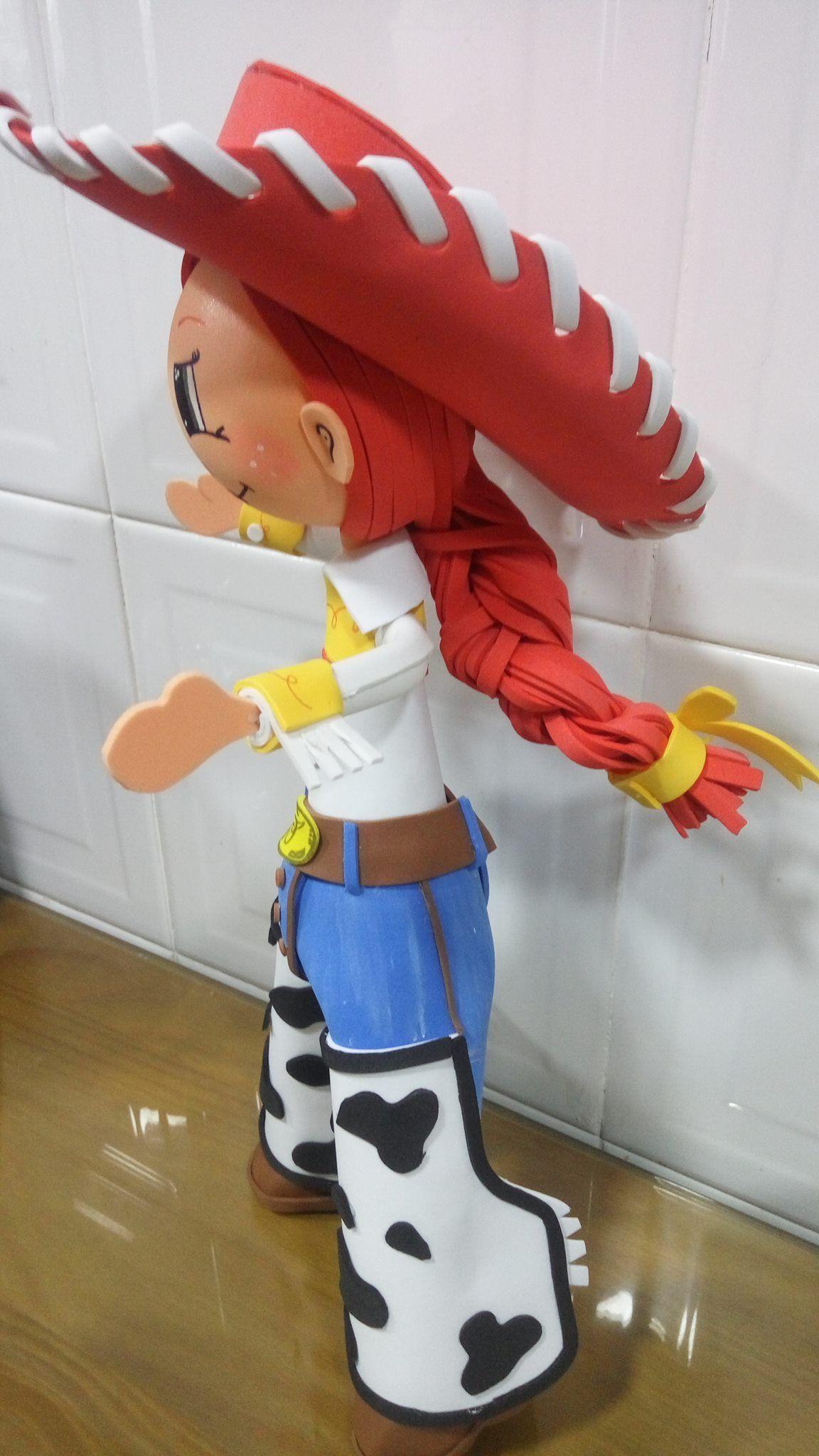 Personaje Jessie de toy story en foamy Muecos planas en Foamy 58398e916f0