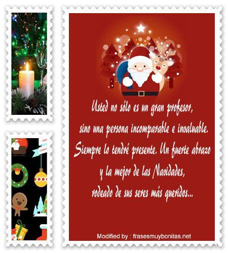 Escritos Para Felicitaciones De Navidad.Bonitas Frases De Navidad Para Tu Profesor Tarjetas De