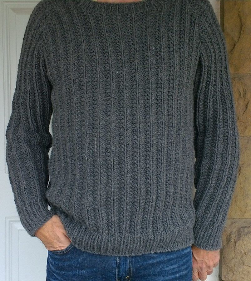 Free Knitting Pattern For One Row Repeat Mens Outdoor Sweater