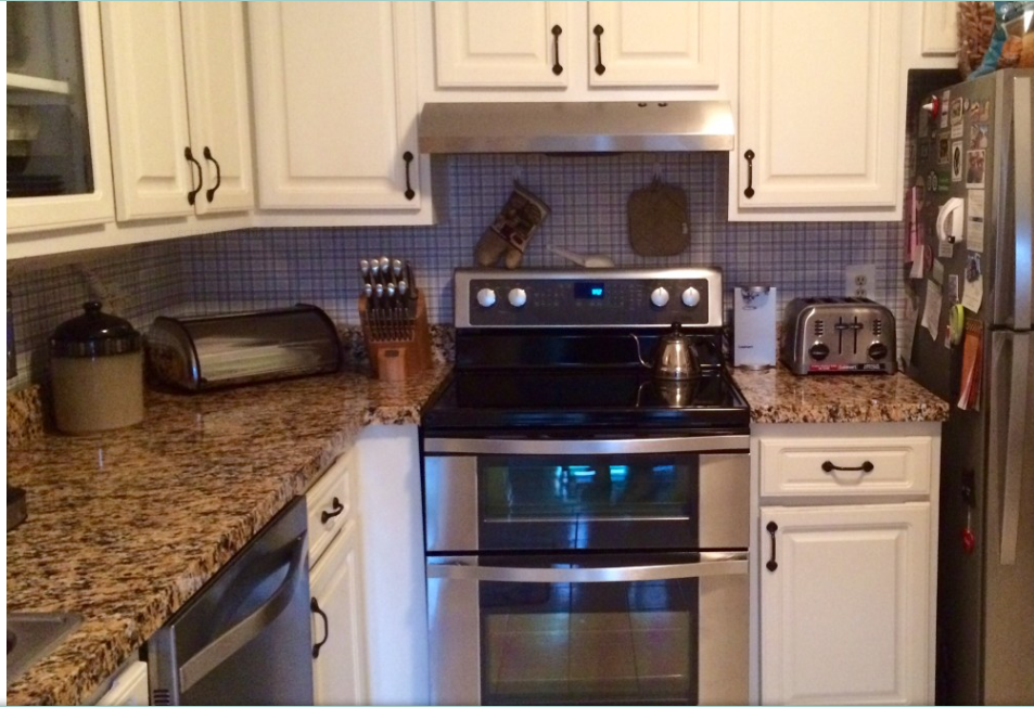 Updating our Kitchen with EZ Faux Décor Granite Film | Granite ...