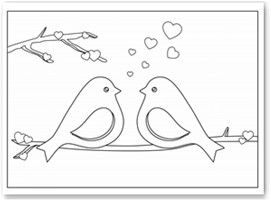 Love Birds Coloring Page Could Be A Suitable Design For Dremel Work
