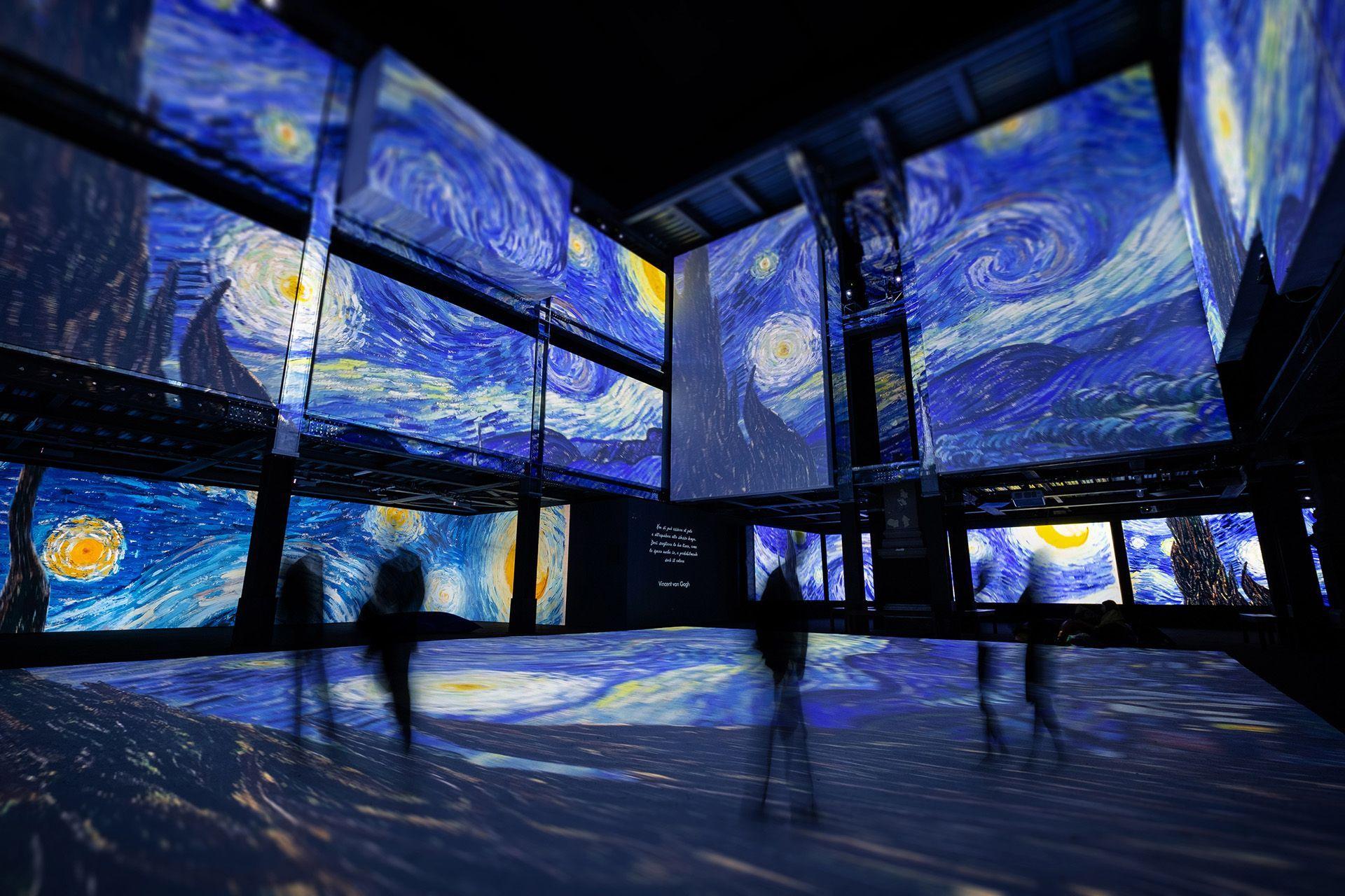 Van Gogh Interactive Exhibition Van Gogh Exhibition Starry Night Van Gogh Van Gogh