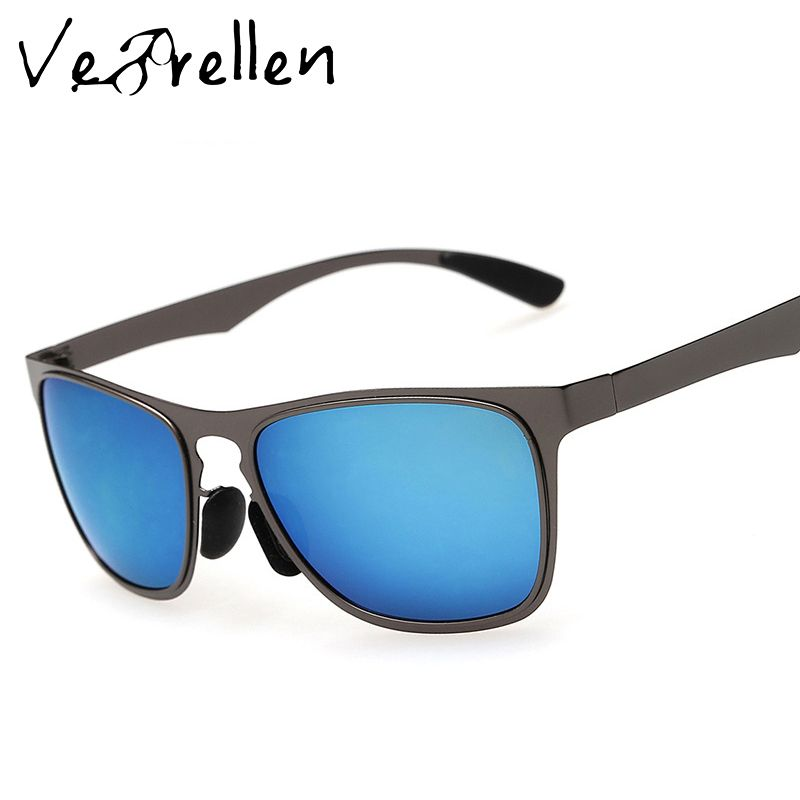 a1ec7bec04b VeBrellen Polarized Men Sunglasses Sports Oversized Square Driver Fishing  Sun Glasses HD Lens Women Metal Frame