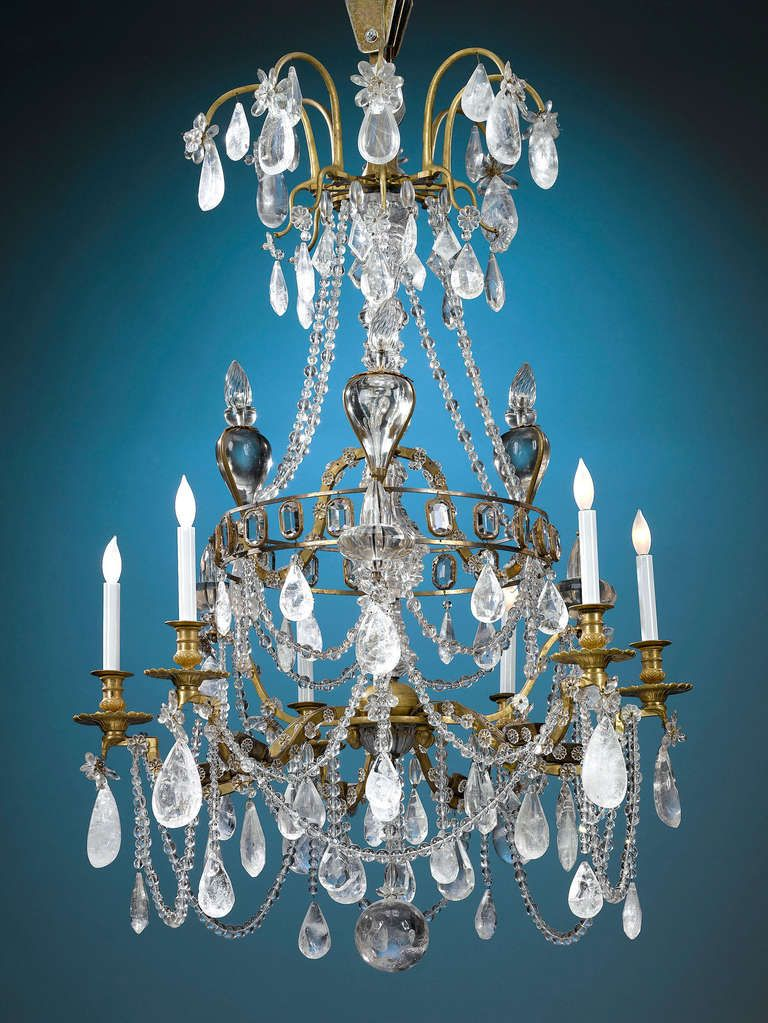Rock crystal chandelier 18th century pendant lighting rock crystal chandelier 18th century from a unique collection of antique and modern chandeliers aloadofball Image collections