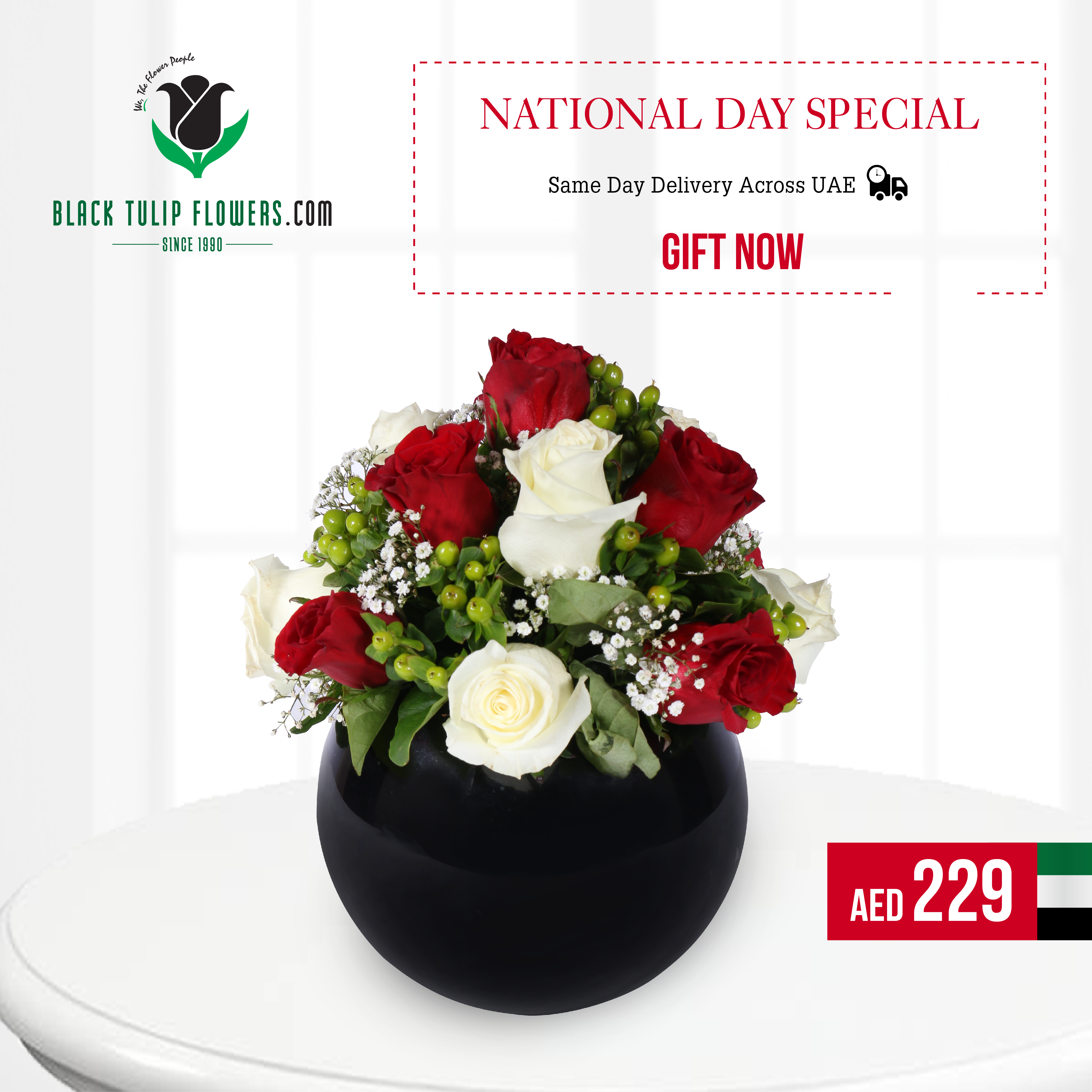 Flowers & Bouquet to Celebrate UAE's 45th National Day