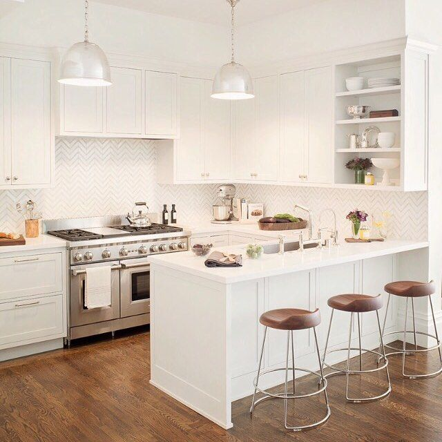 A great example of a small yet functional and timeless kitchen ...