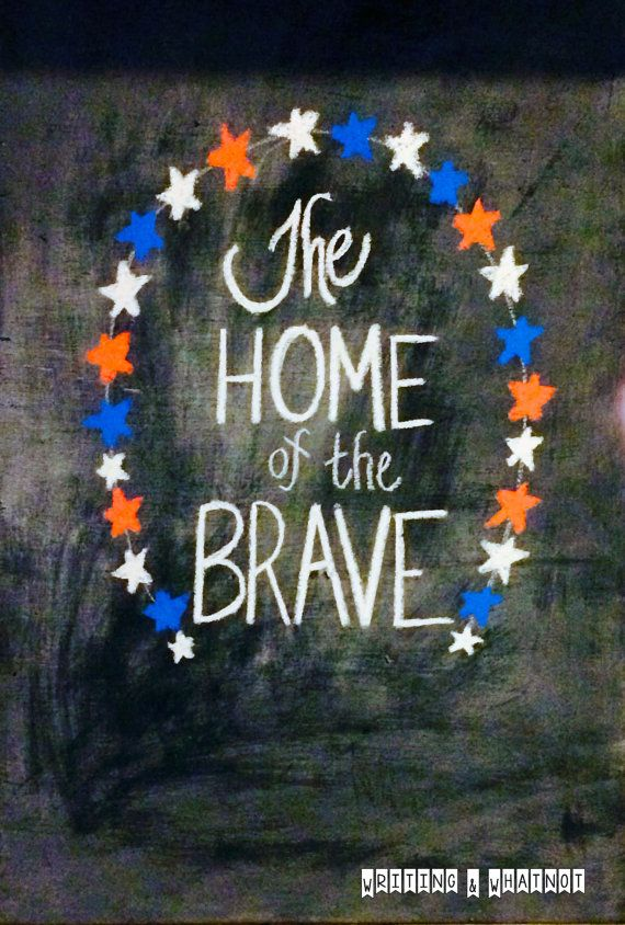 4th of July Art - Independence Day Decor - Original Chalkboard Art -Fourth of July Decor - Hand-Lettered - Physical / Actual Chalkboard