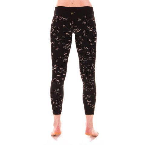 578e8ad7be1ab Titan Hunt - Organic Cotton Cave Painting Leggings - Black - 3RD ROCK - Eco  Activewear