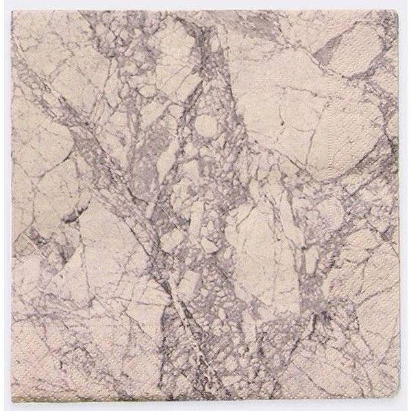 Ferm Living Napkins Marble 20 Pcs Pink Paper 33x33cm Napkin Design Ferm Living Marble Paper