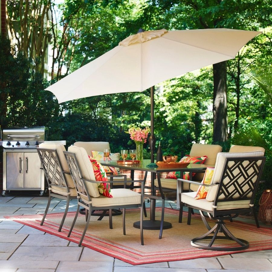 Style Selections Glenn Hill 7 Piece Patio Dining Set At Lowes Com