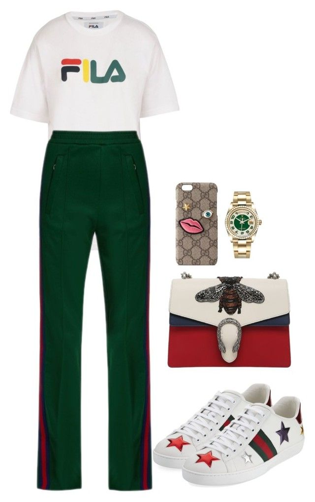"""GUCCI IN MY ZONE"" by neide-goncalvesbrito on Polyvore featuring mode, Fila, Gucci et Rolex"