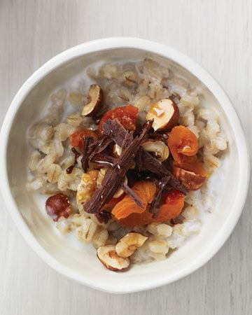 Barley with Apricots, Hazelnuts, Chocolate, and Honey, Wholeliving.com