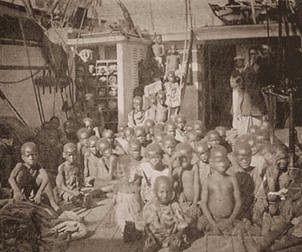 Cargo slave ship