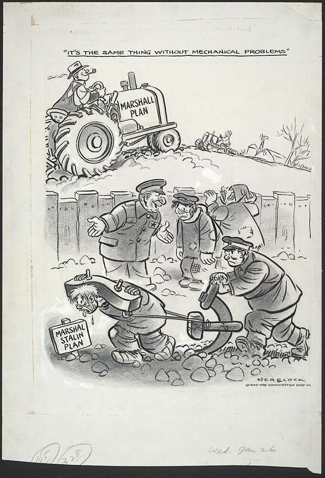 cartoon by herb lock for the washington post after the ussr  1949 cartoon by herb lock for the washington post after the ussr created the council for