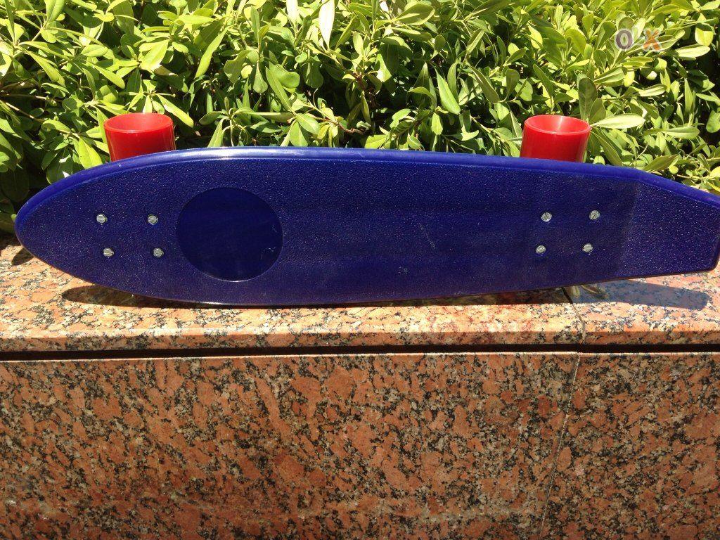 Skate Azul Antigo de Coleção de Fabrico Português