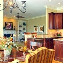 this beautiful room was staged by Michele Kurelich & Janine Varney
