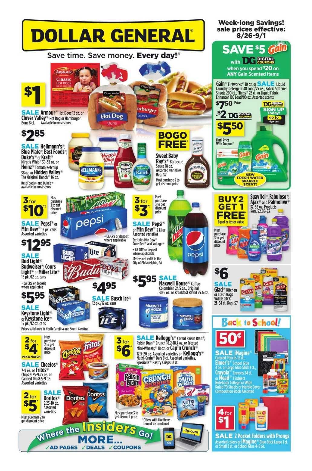 Dollar General Weekly Ad Flyer January 20 26 2019 Weeklyad123 Com Weekly Ad Circular Grocery Stores Dollar General Weekly Ads Hot Dog Buns