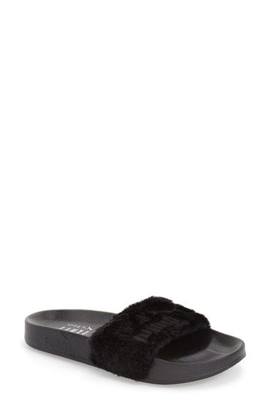 PUMA by Rihanna  Leadcat Fenty  Faux Fur Slide Sandal (Women)  0e66f2f681