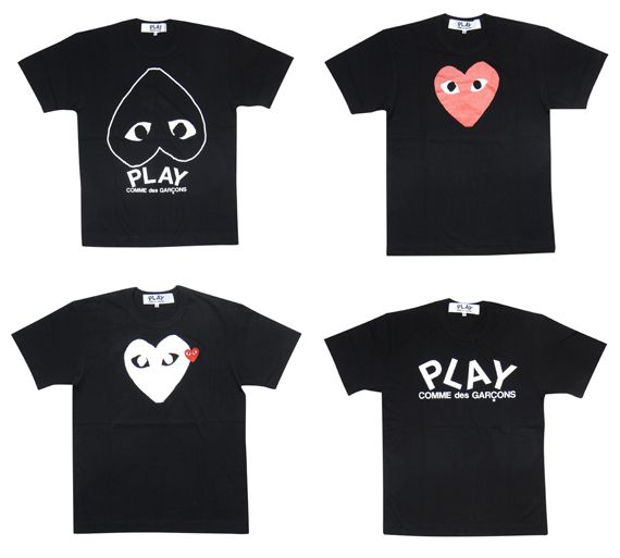 commes de garcon play t shirt