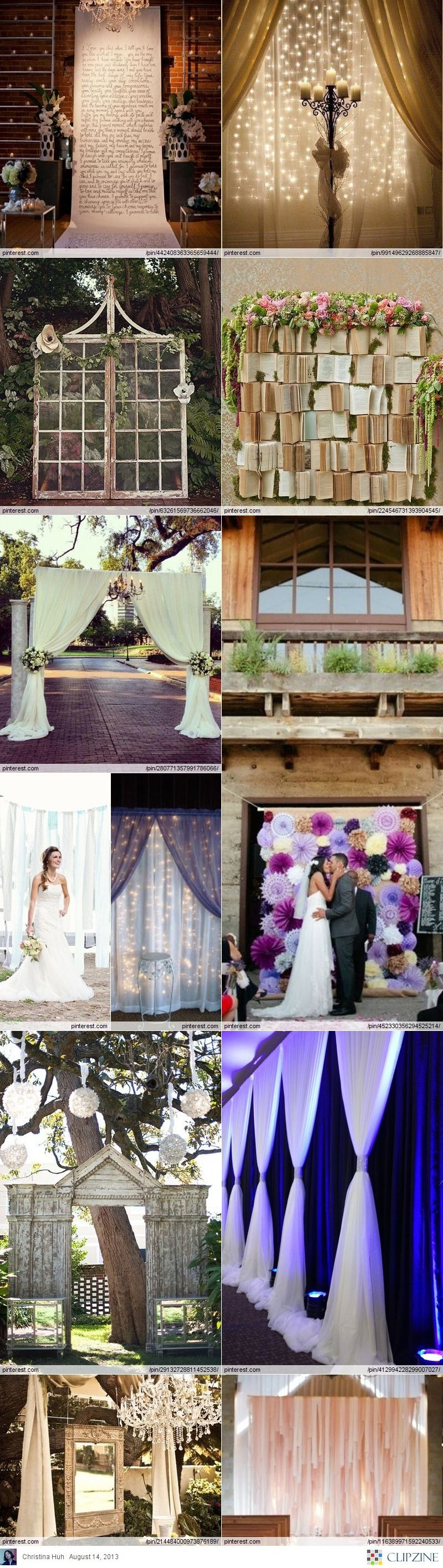 Wedding Backdrop DIY Ideas ***A Book backdrop how sweet is that??? Diy wedding backdrop Diy