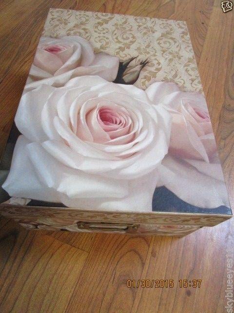 2008 Igor Levashov White Rose Decorative Storage Box 11 x 8 Rectangular #TriCoastal #Victorian
