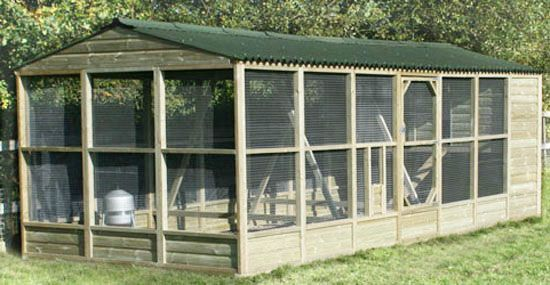 Walk In Chicken House bio-secure walk in chicken coop and run, built to comply with