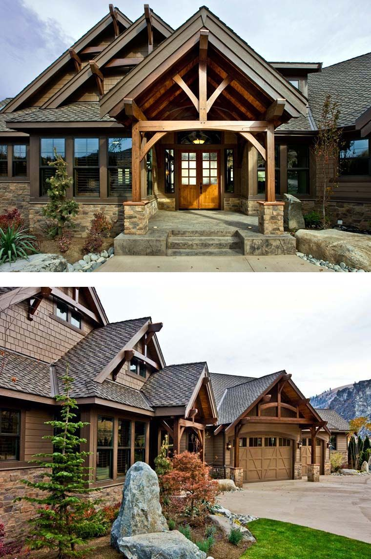 Craftsman Style House Plan 87400 With 3 Bed 3 Bath 3 Car Garage