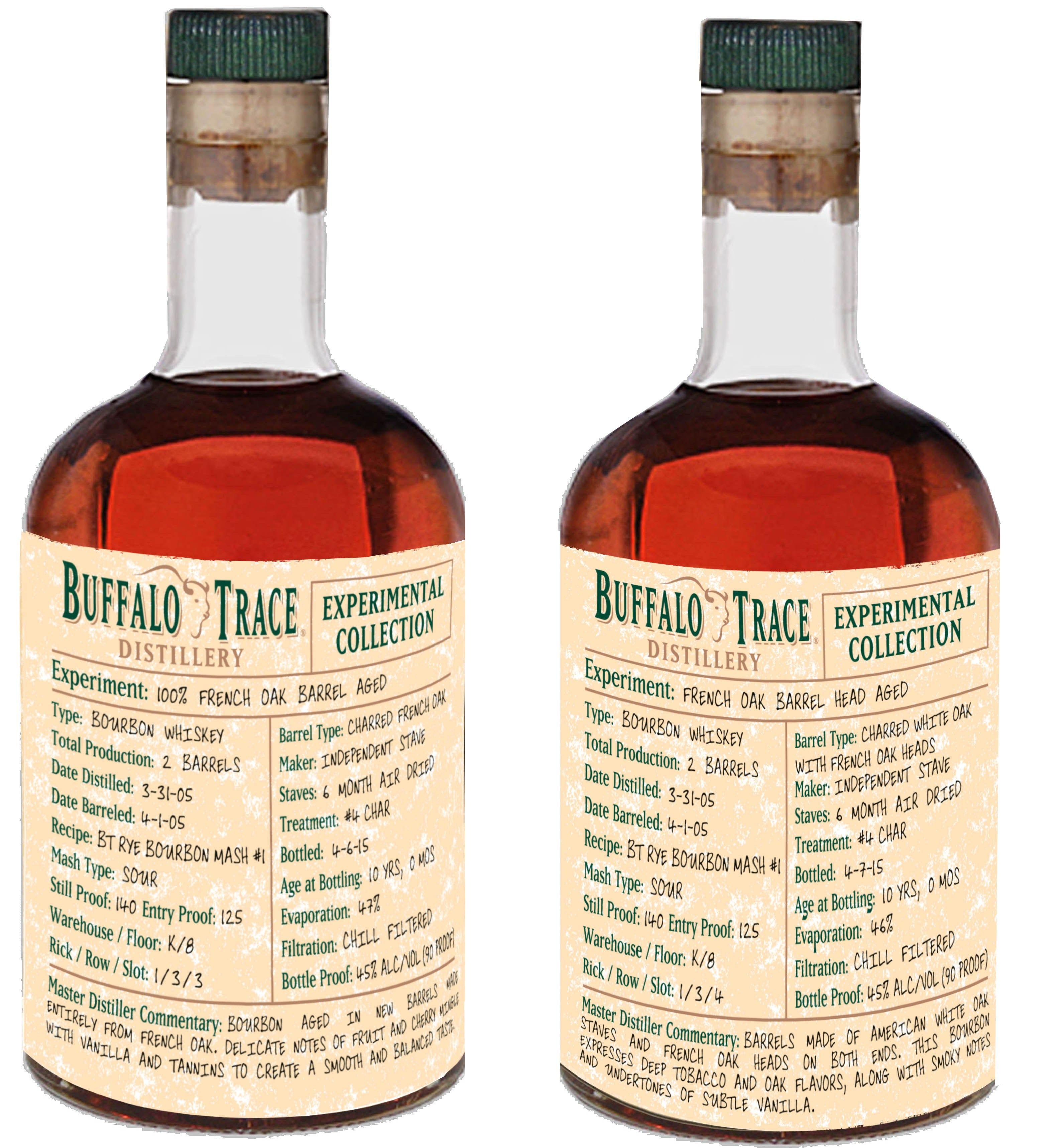 French Oak Experiment 2015 Whiskey, Buffalo trace, Bourbon
