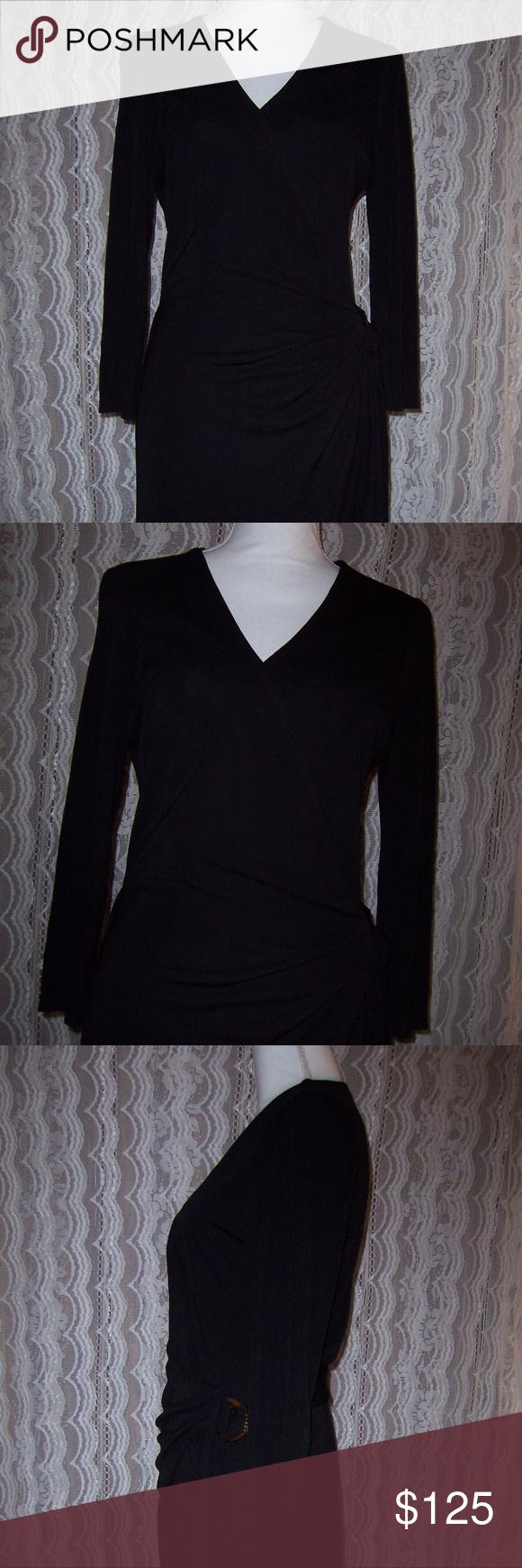 Lauren ralph lauren long sleeve wrap dress sz womenus gorgeous