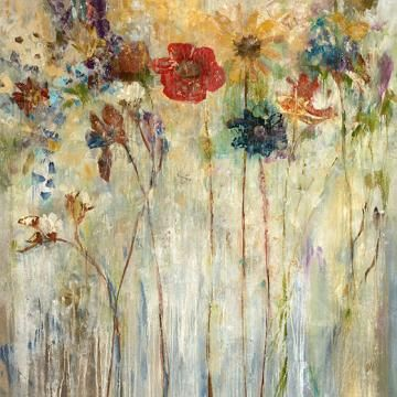 Floral Artwork On Canvas