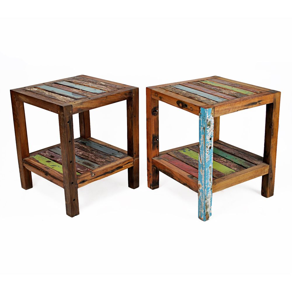 Sites Like Overstock For Furniture: Ecologica Maritima Reclaimed Wood End Table