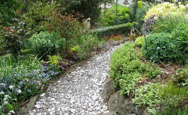 Kies Gartenpfad-anlegen Ideen Gartengestaltung garten - gartenwege anlegen kies