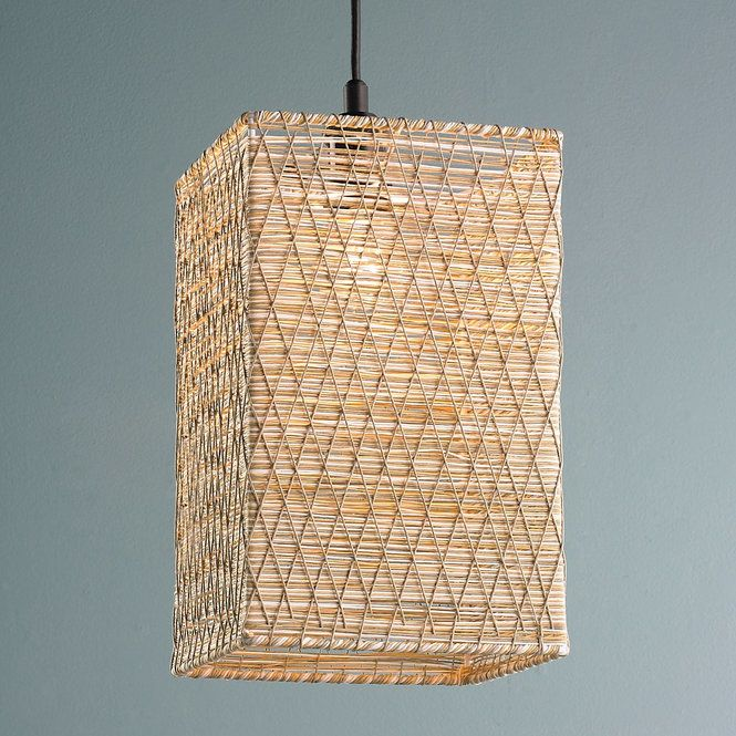 Check out Rectangle Woven String Pendant Light from Shades of Light