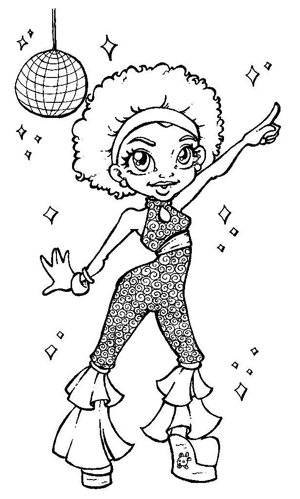 disco girl patterns for art