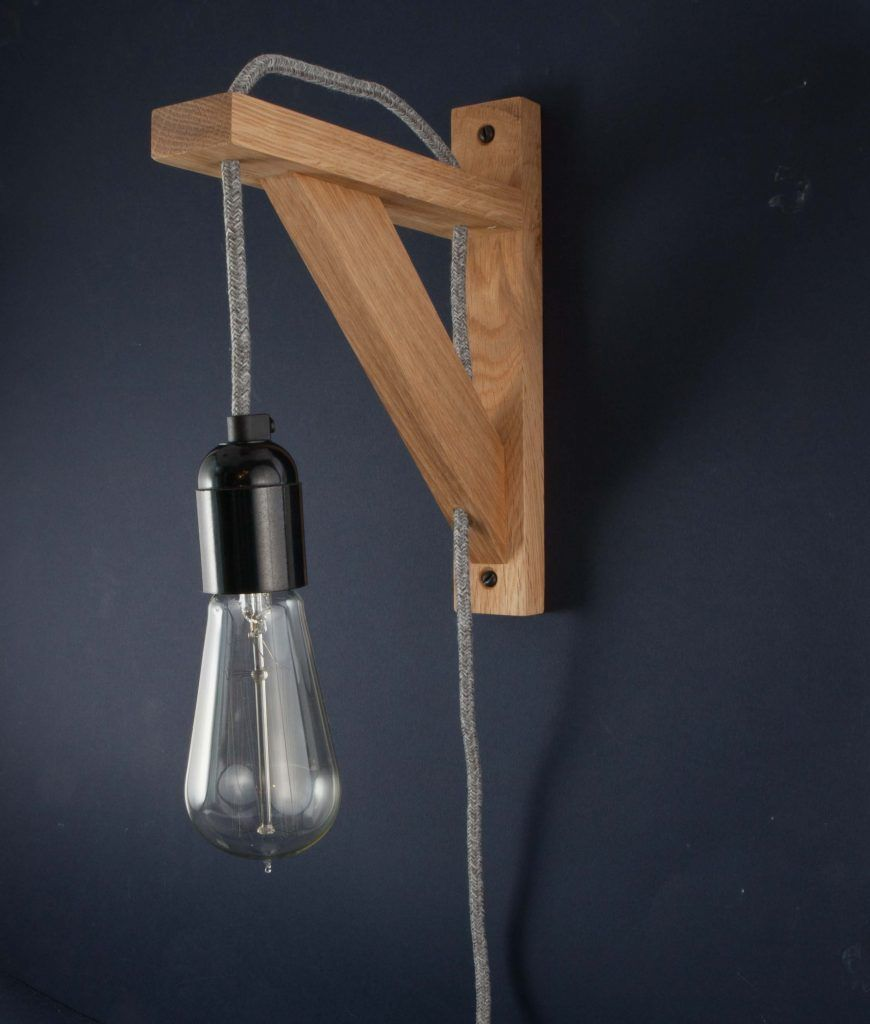 Hebden grey jumper bedroom wall light rustic style free uk