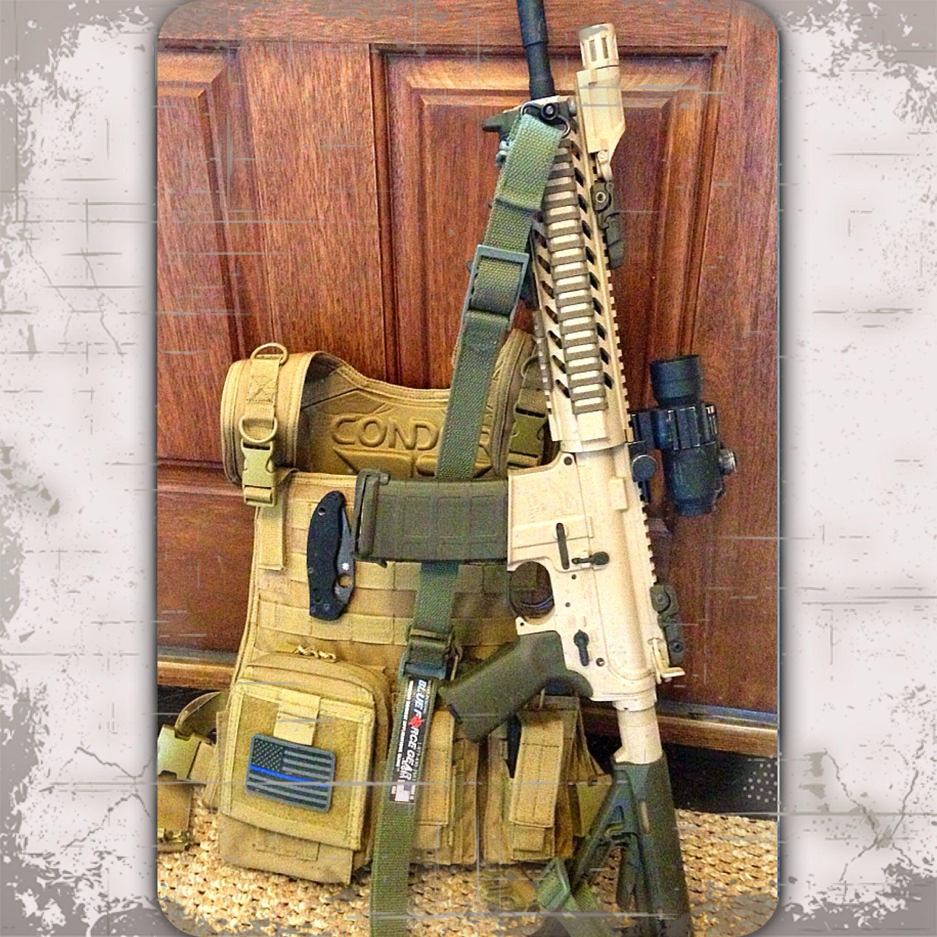 Duracoat Tactical Woodland Tan w/Magpul OD Green furniture