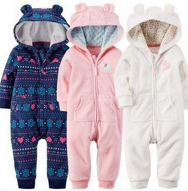 Winter pasgeboren Baby Rompertjes Fleece Leuke Baby Meisjes jongens Kleding 6 M-24 M babykleertjes set Baby Jumpsuits bebes