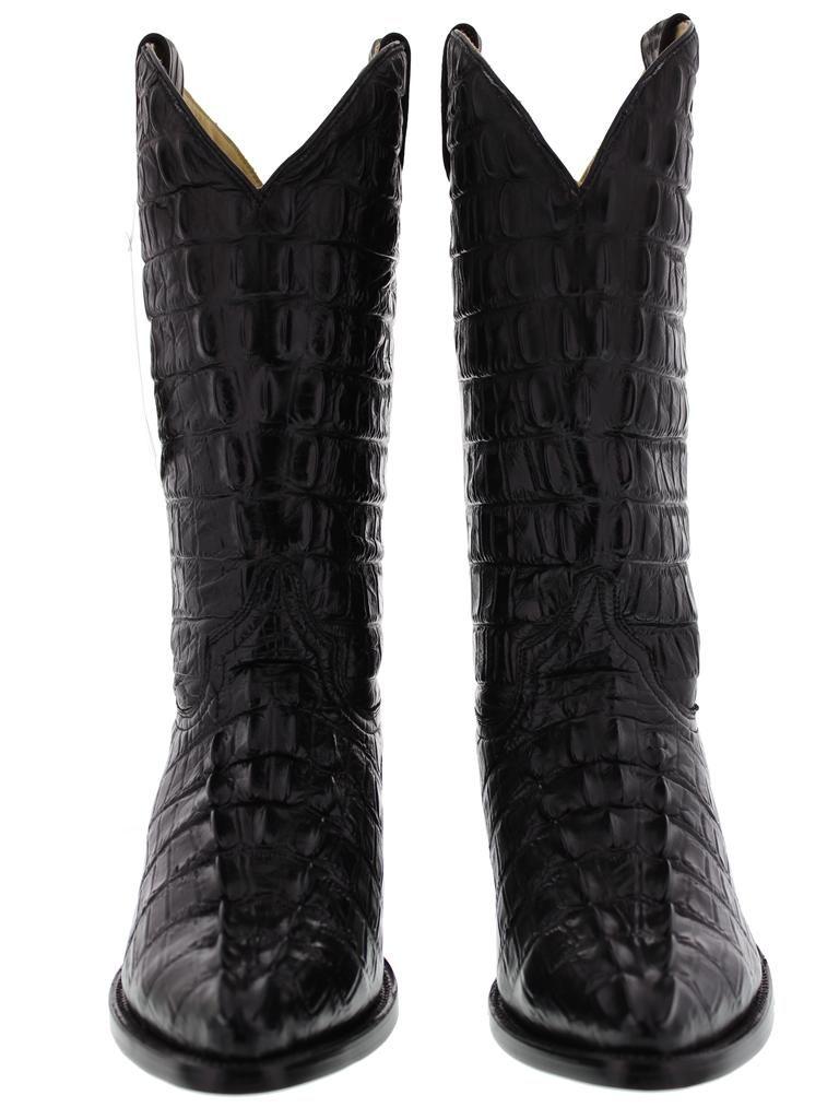 c2fe92803bf mens black leather full crocodile alligator tail cut western cowboy ...