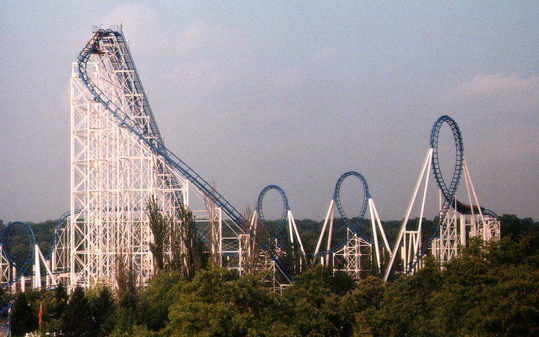 Shockwave Six Flags Great America Gurnee Illinois Usa Great America Six Flags Roller Coaster