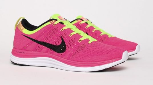 newest 93ed9 e65d1 Flyknit Lunar 1+ - Pink Yellow