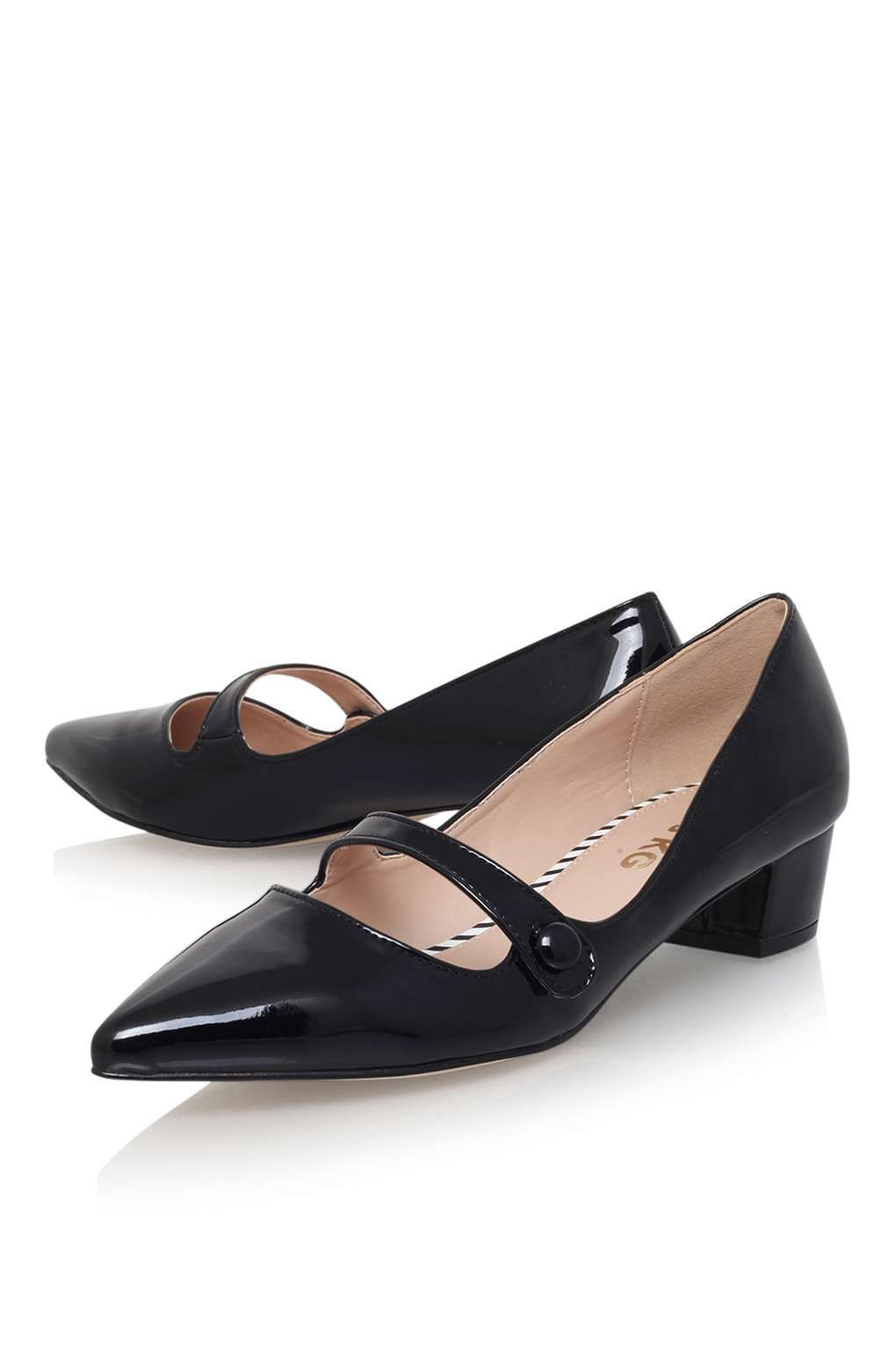 **Audrina Black Low Heel by Miss KG - Shoes- Topshop Europe