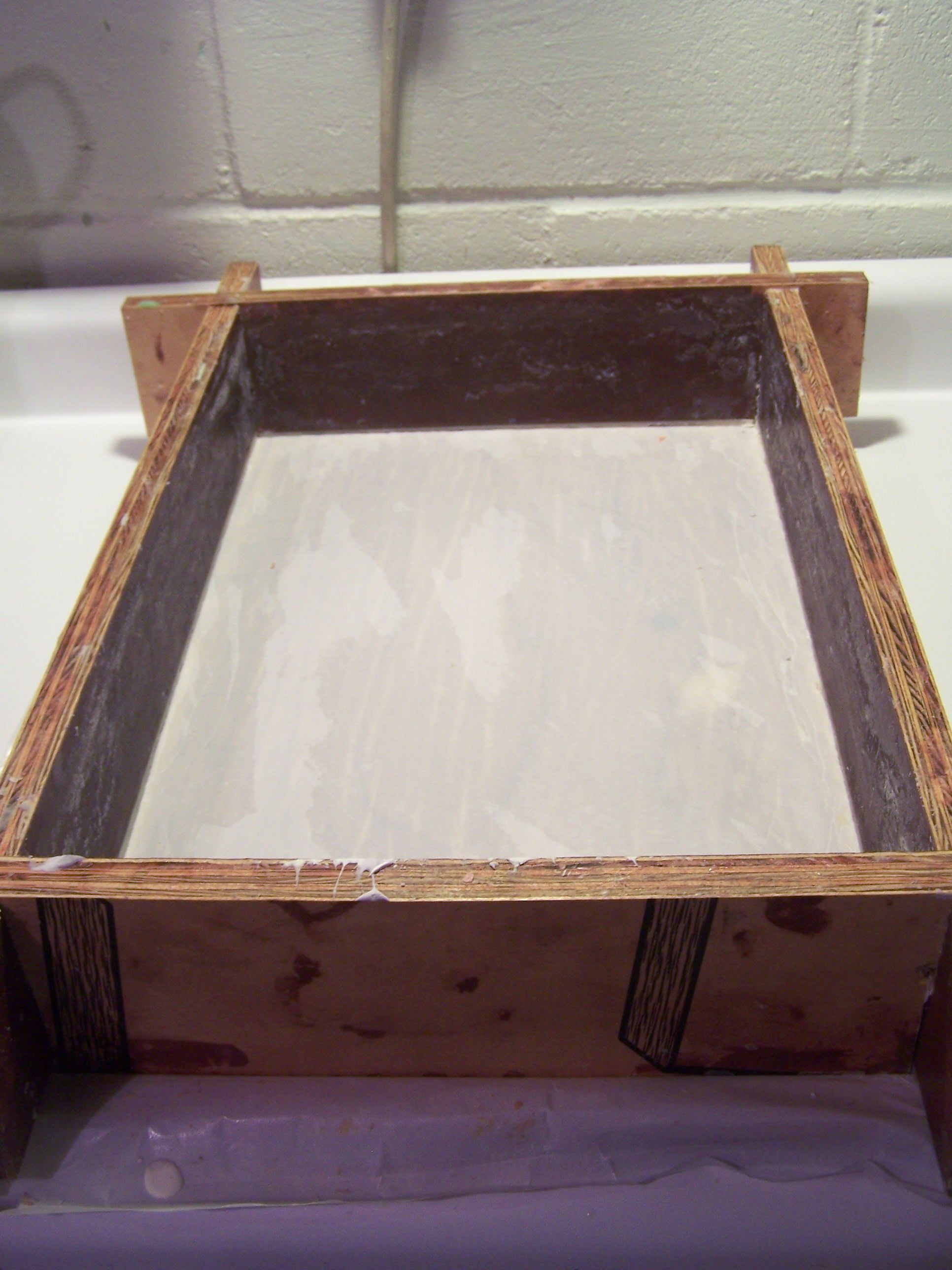 Our Homemade Soap Mold It Holds About 20 Lbs We Line It With