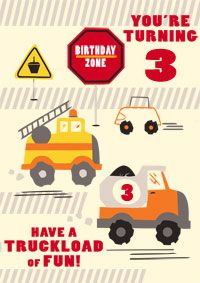 For A Boy Turning 3 This Is Great 3rd Birthday Card It Has Picture Of Truck And Tyre Tracks Says Youre The Can Be