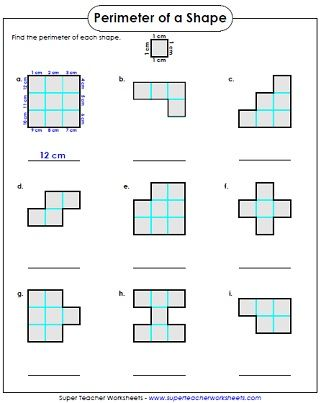 Perimeter Worksheet - 3rd Grade | Perimeter worksheets, Area ...
