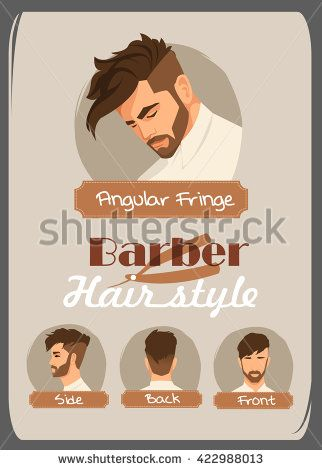 Men S Haircut And Hairstyle Angular Fringe Haircut Front Side