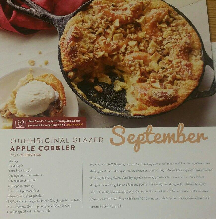 Krispy Kreme Calendar.Ohhhriginal Glazed Apple Cobbler Krispy Kreme Doughnuts September