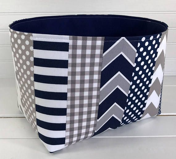 Beau Storage Bin, Organizer Basket, Fabric Bin, Gray, Nursery Decor, Fabric  Basket